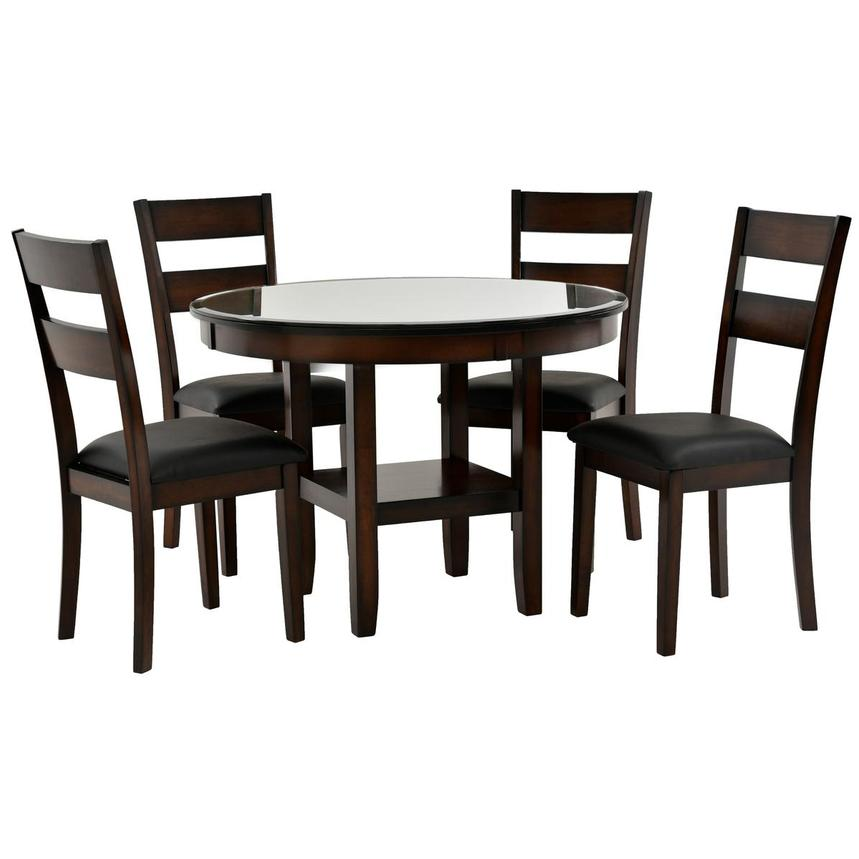 Miguel 5-Piece Casual Dining Set (Sold By Set Only) w/12mm Glass Top  main image, 1 of 10 images.