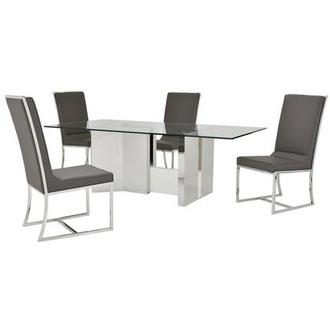 Rialto/Sofitel Gray 5-Piece Formal Dining Set