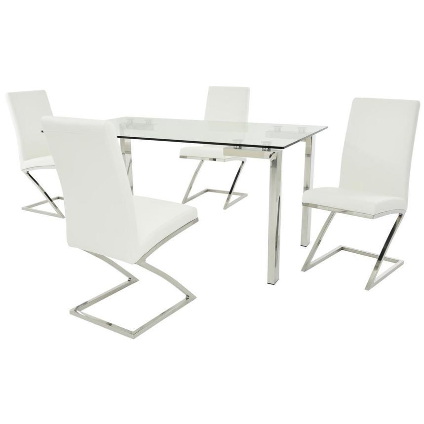julli jade white 5 piece casual dining set el dorado furniture. Black Bedroom Furniture Sets. Home Design Ideas