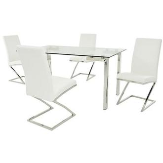Julli/Jade White 5-Piece Casual Dining Set