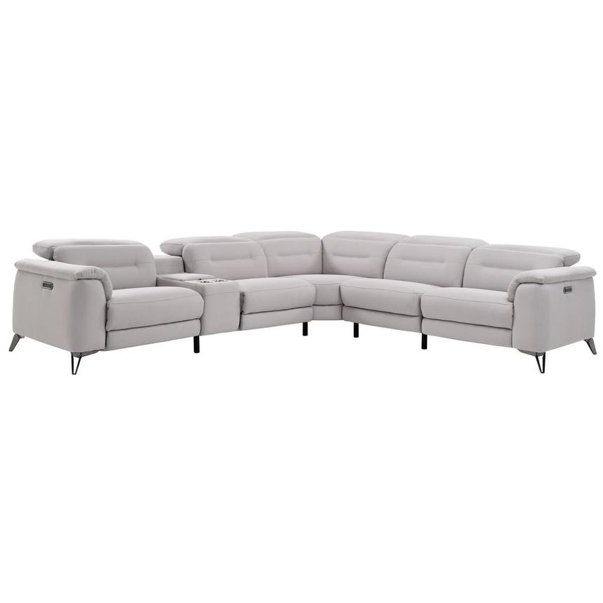 Claribel Power Motion Sofa w/Right & Left Recliners  main image, 1 of 8 images.