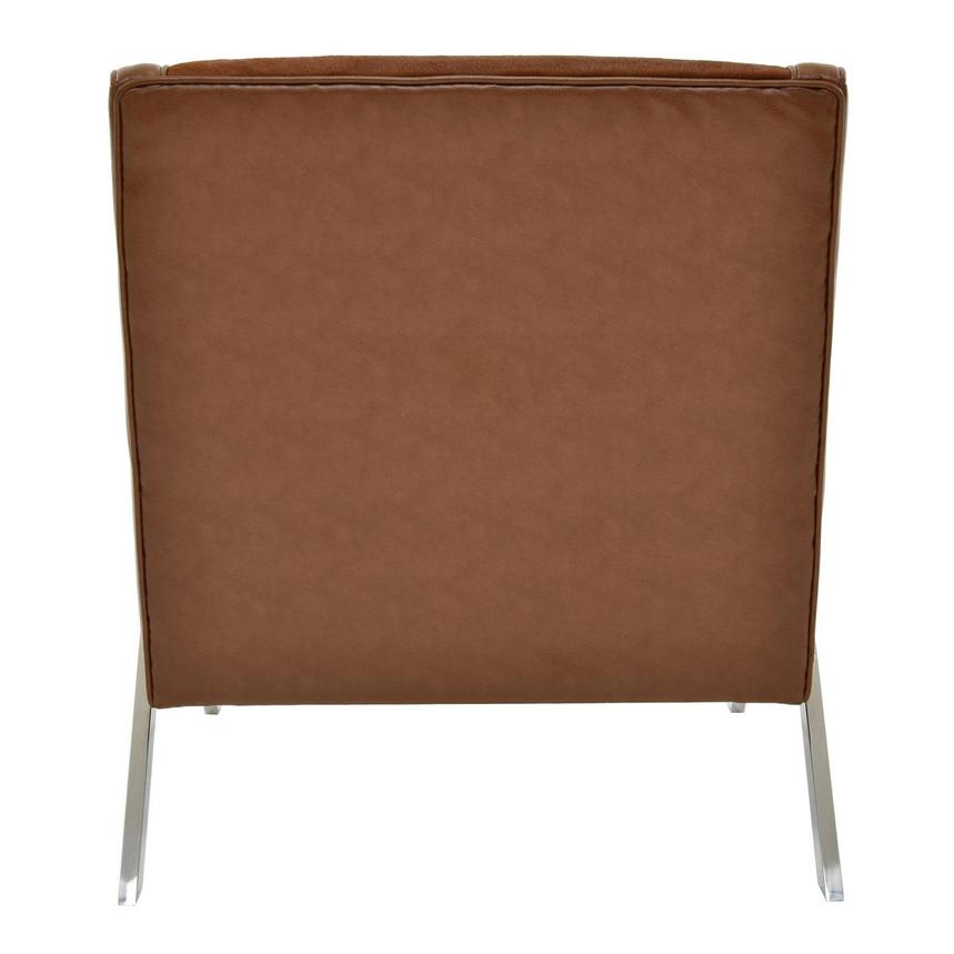 Krava Brown Leather Accent Chair w/Ottoman  alternate image, 5 of 9 images.