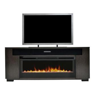 Mile Brown Faux Fireplace w/Speakers