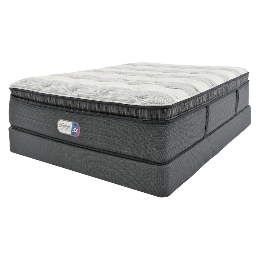 Clover Spring PT Twin XL Mattress w/Low Foundation by Simmons Beautyrest Platinum  main image, 1 of 5 images.