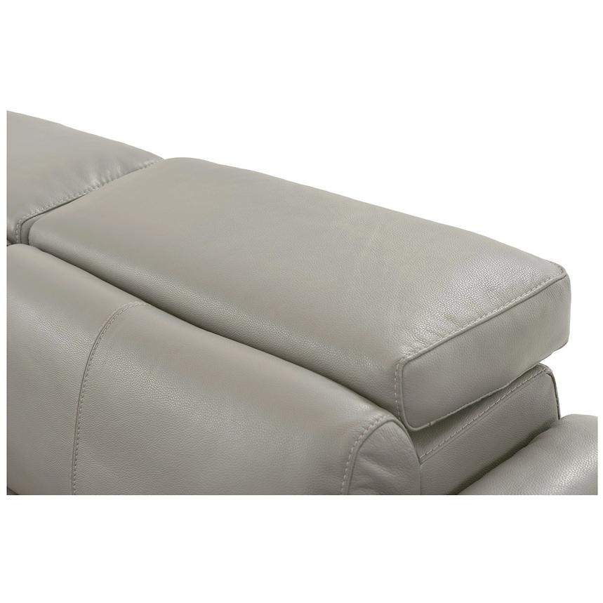 Charlie Light Gray Power Motion Leather Sofa w/Right & Left Recliners  alternate image, 6 of 9 images.