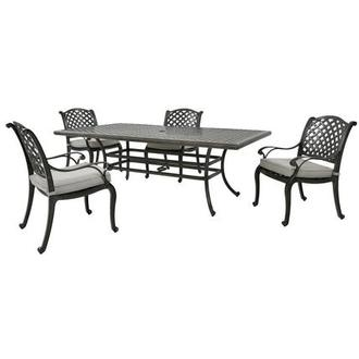 Castle Rock Gray 5-Piece Patio Set