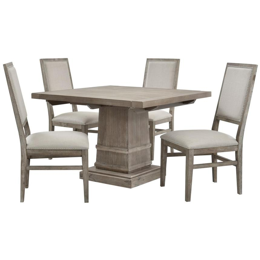 Hudson Gray/Dexter Gray 5-Piece Formal Dining Set  main image, 1 of 13 images.