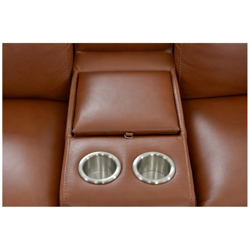 Gian Marco Tan Power Motion Leather Sofa w/Right & Left Recliners  alternate image, 5 of 7 images.