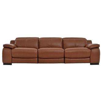 Gian Marco Tan Oversized Leather Sofa