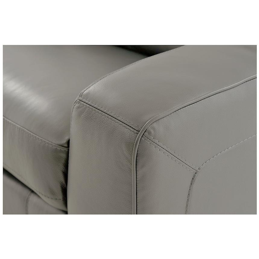 Jay Gray Power Motion Leather Sofa w/Right & Left Recliners  alternate image, 6 of 7 images.