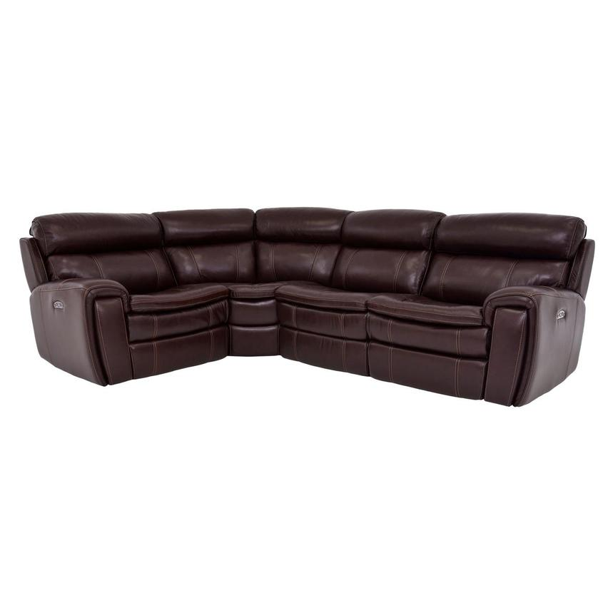 Napa Power Motion Leather Sofa w/Right & Left Recliners  main image, 1 of 6 images.