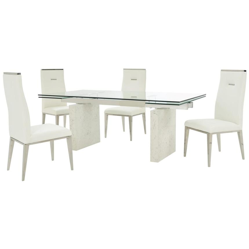 Industria/Hyde White 5-Piece Formal Dining Set  main image, 1 of 15 images.