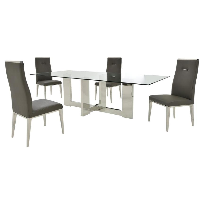 Opus/Hyde Gray 5-Piece Formal Dining Set  main image, 1 of 11 images.