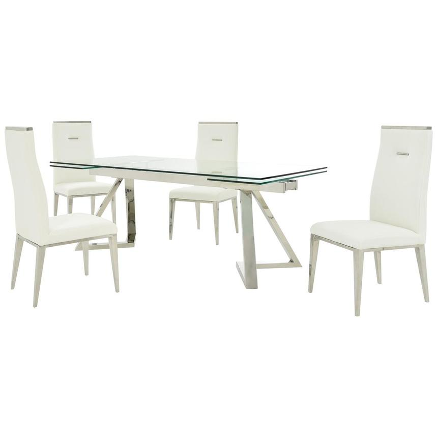 Suri/Hyde White 5-Piece Formal Dining Set  main image, 1 of 14 images.