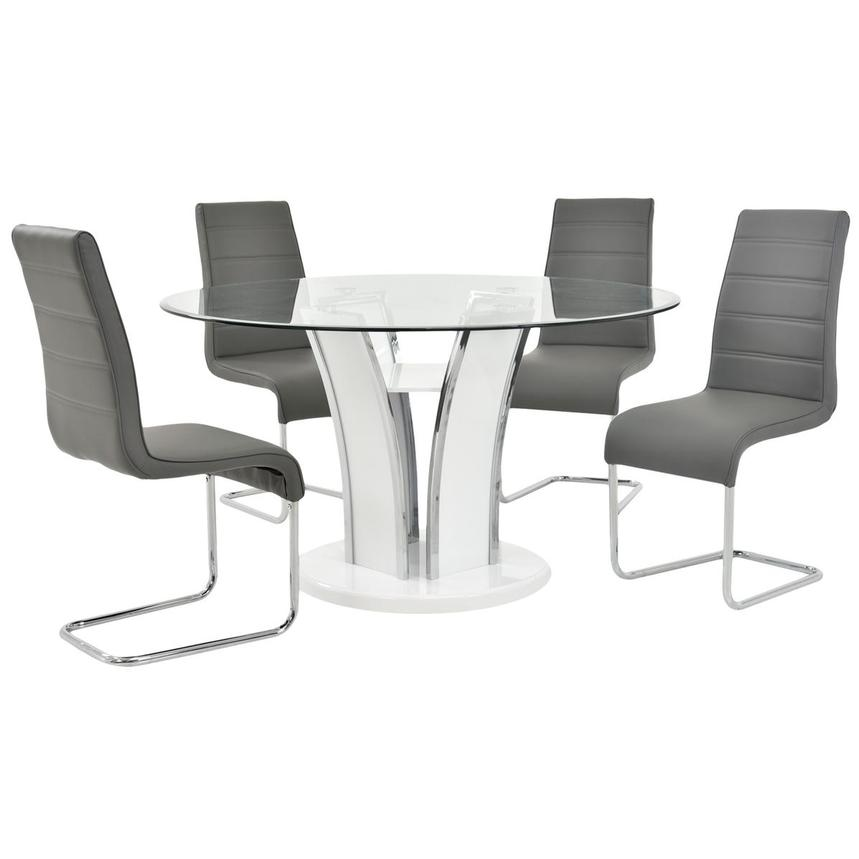 Dash Gray 5-Piece Casual Dining Set  main image, 1 of 19 images.