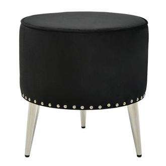 Bentley Black Ottoman