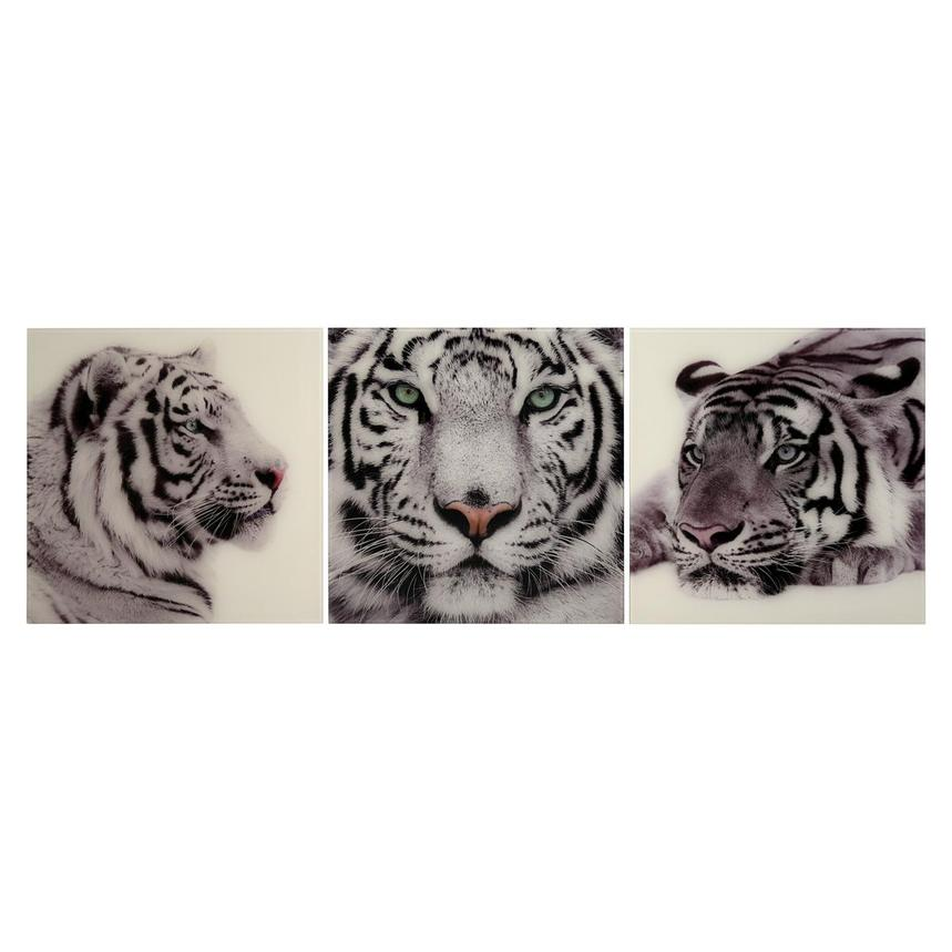 Tiger Set of 3 Acrylic Wall Art  main image, 1 of 4 images.