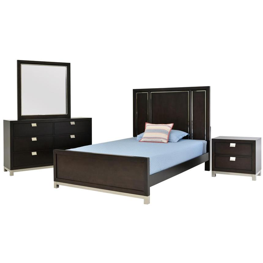 Metro Brown 4-Piece Full Bedroom Set  main image, 1 of 5 images.