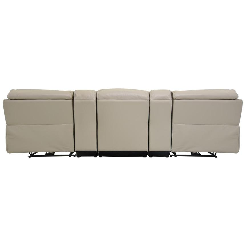 Cody Cream Home Theater Leather Seating w/Right & Left Recliners  alternate image, 5 of 8 images.