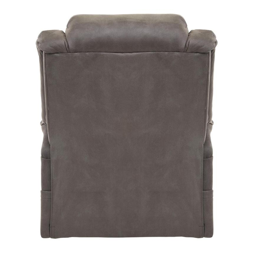 Soother Gray Power-Lift Leather Recliner  alternate image, 5 of 8 images.