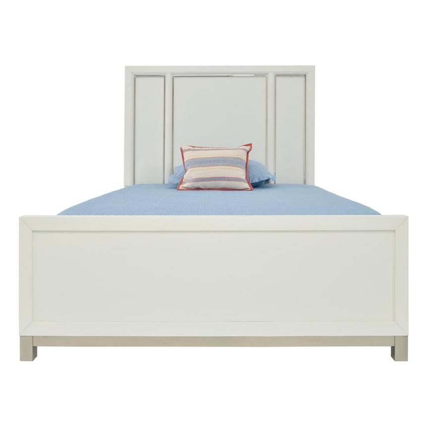 Metro White Twin Panel Bed  main image, 1 of 6 images.