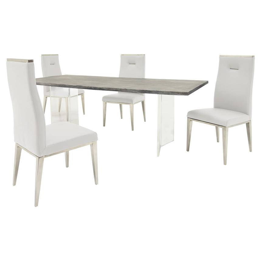 Light/Hyde White 5-Piece Formal Dining Set  main image, 1 of 13 images.