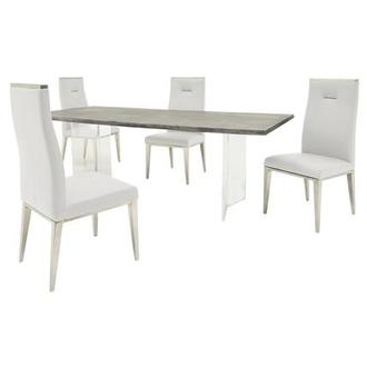 Light/Hyde White 5-Piece Formal Dining Set