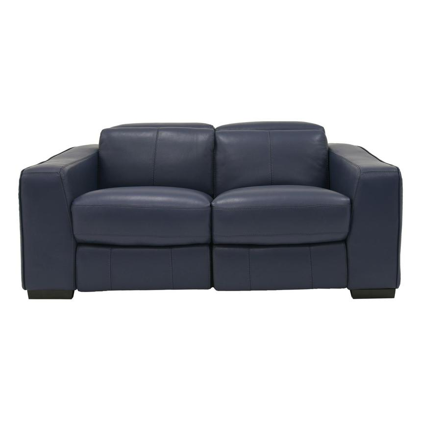 Jay Blue Power Motion Leather Loveseat  main image, 1 of 7 images.