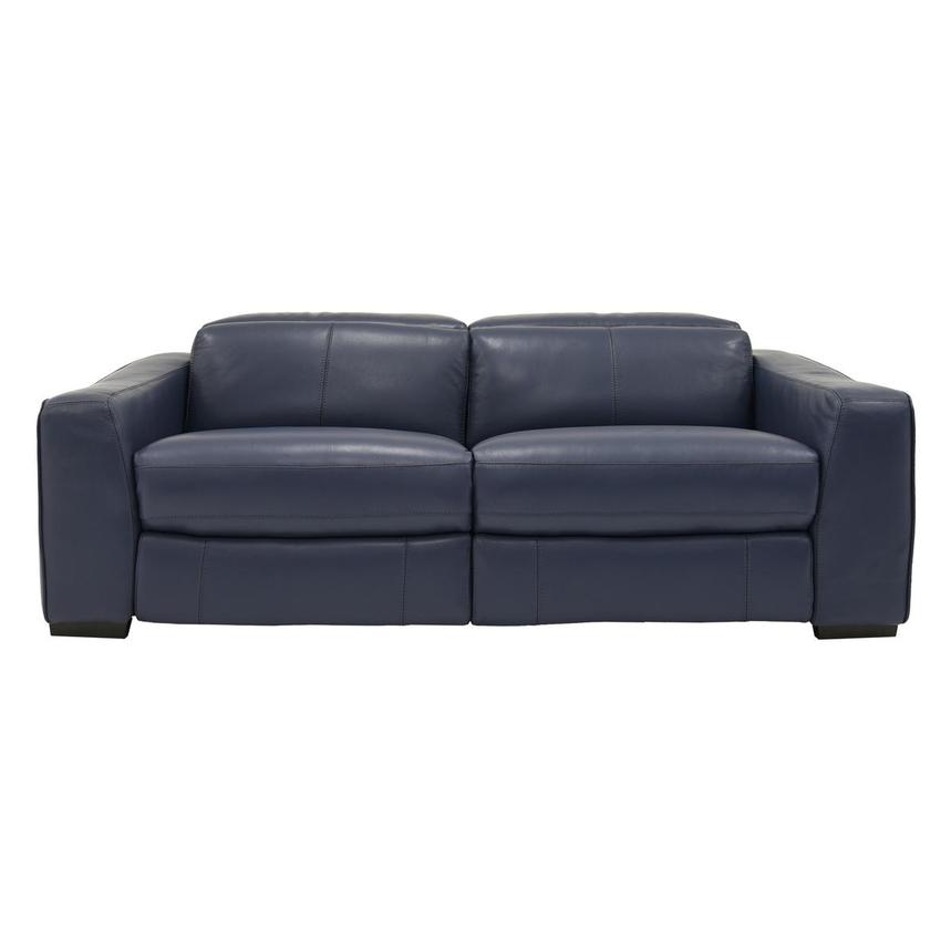 Jay Blue Power Motion Leather Sofa  main image, 1 of 7 images.