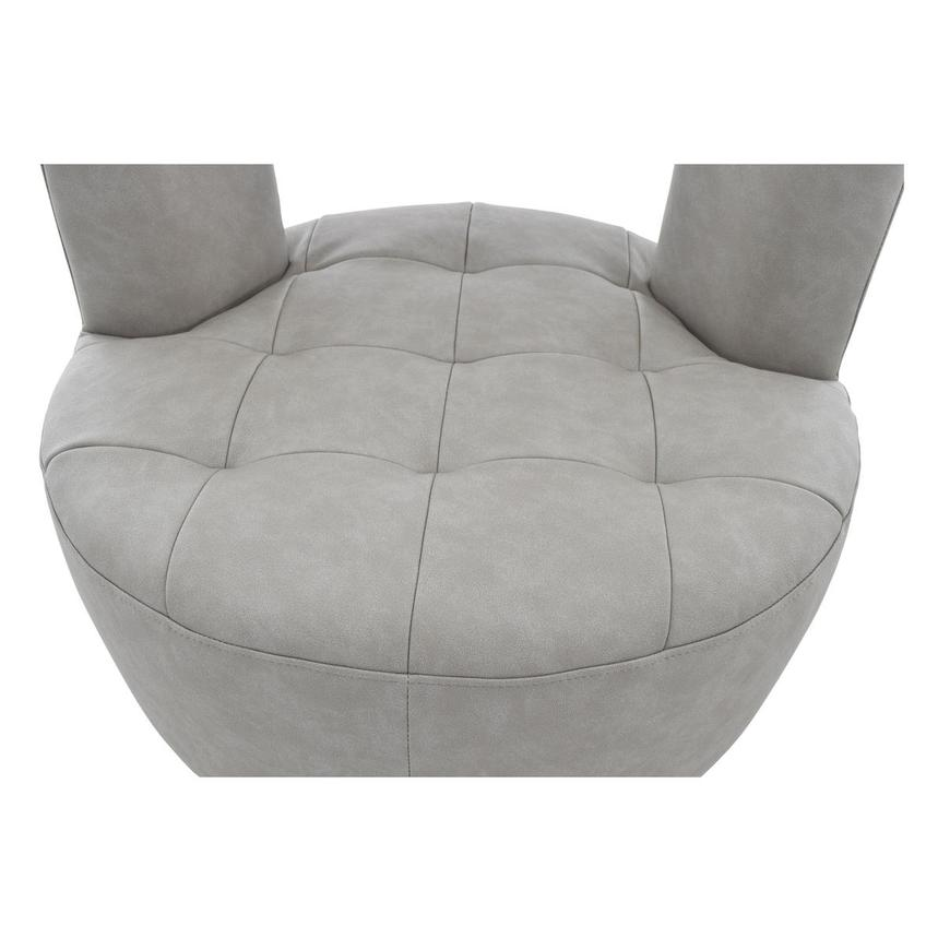 Noale Light Gray Swivel Accent Chair  alternate image, 6 of 6 images.