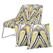 Tutti Frutti Yellow Accent Chair w/2 Pillows  main image, 1 of 10 images.