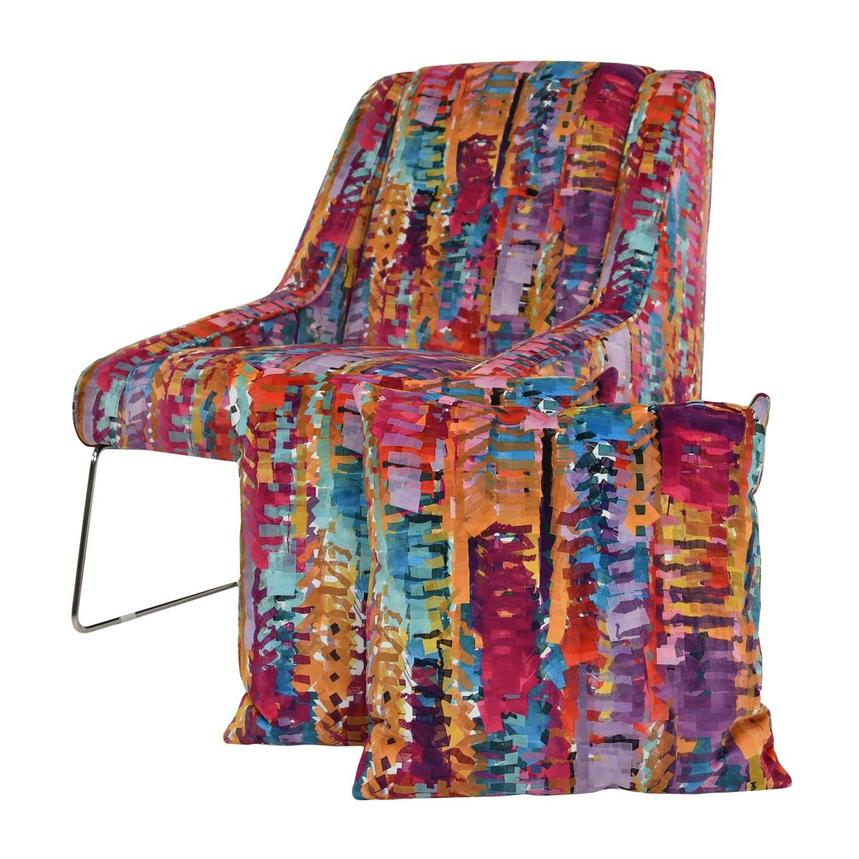 Tutti Frutti Multi Accent Chair w/2 Pillows  main image, 1 of 9 images.