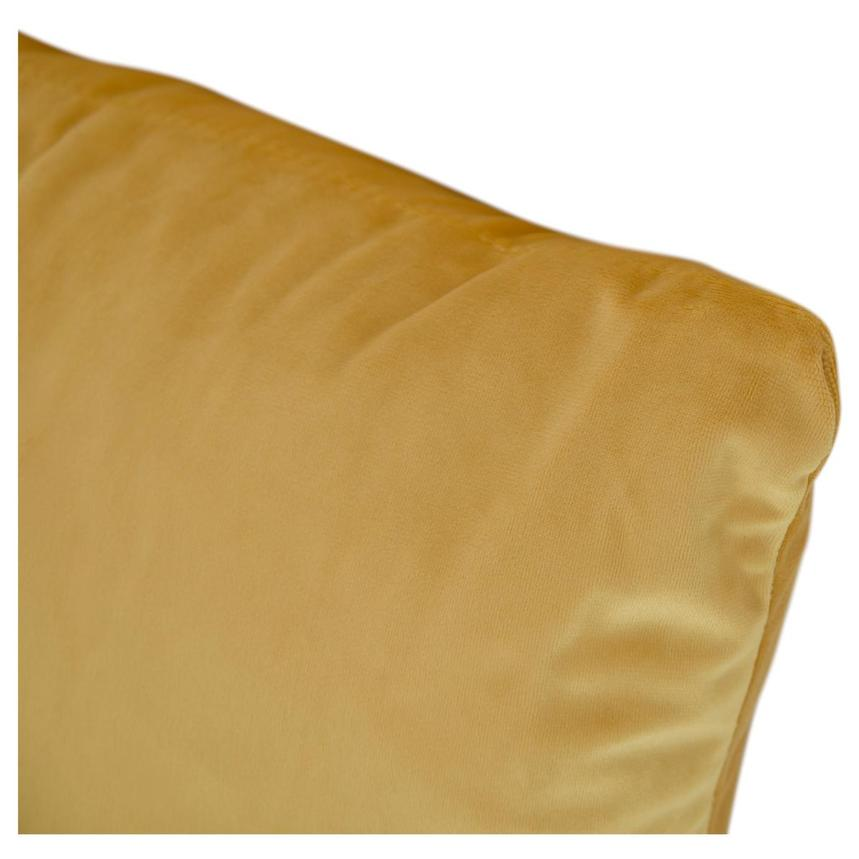 Okru Dark Yellow Swivel Chair w/2 Pillows  alternate image, 10 of 10 images.