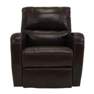 Keegan Chocolate Power Motion Leather Recliner