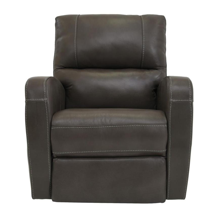 Keegan Gray Power Motion Leather Recliner  main image, 1 of 7 images.