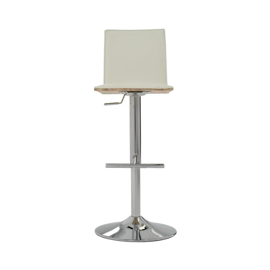 Solimar White Adjustable Stool  main image, 1 of 9 images.