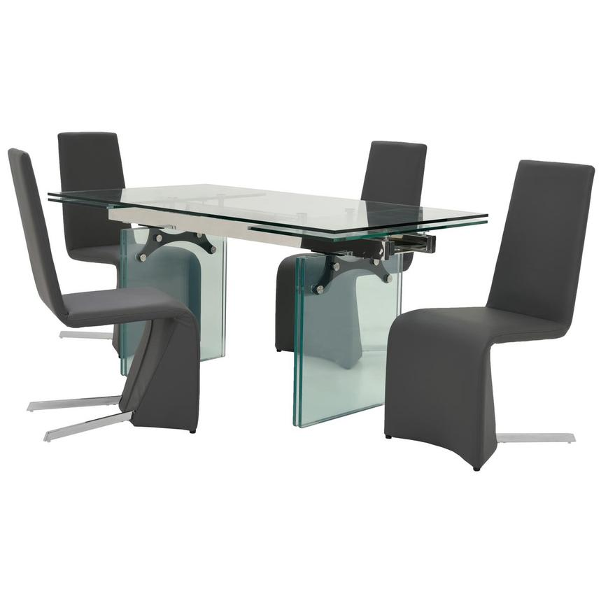 Annie/ Tui Gray 5-Piece Formal Dining Set  main image, 1 of 14 images.