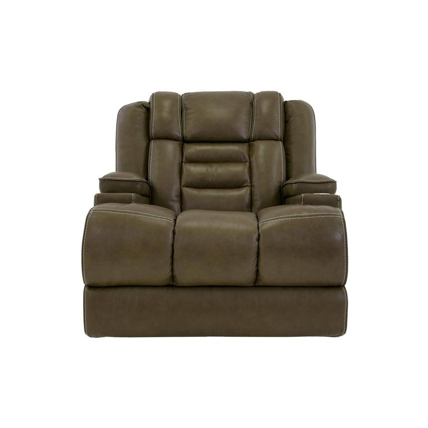 Damon Brown Power Motion Leather Recliner  main image, 1 of 10 images.