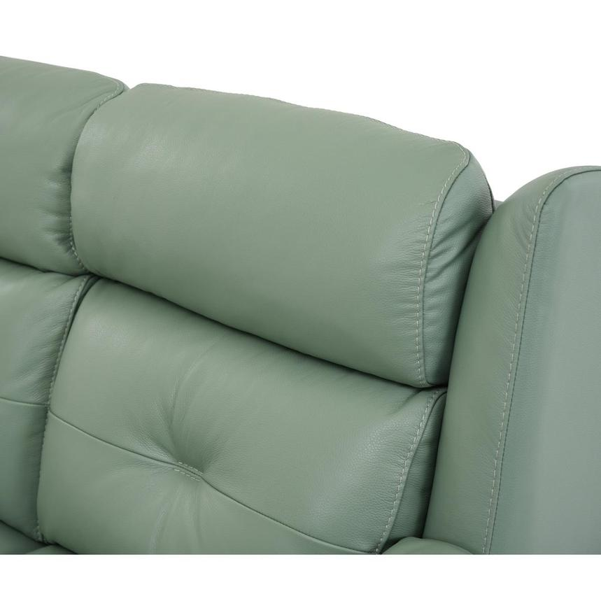 Mayte Green Power Motion Leather Sofa  alternate image, 6 of 10 images.