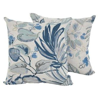 Scarlett Blue Two Accent Pillows