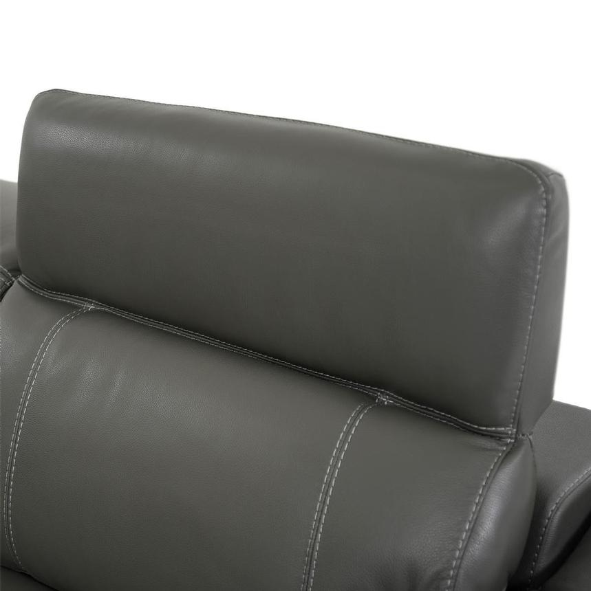 Austin Dark Gray Power Motion Leather Sofa w/Right & Left Recliners  alternate image, 5 of 8 images.