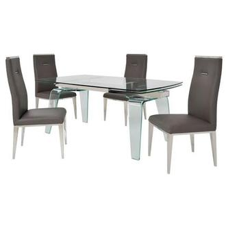 Boston/Hyde Gray 5-Piece Formal Dining Set