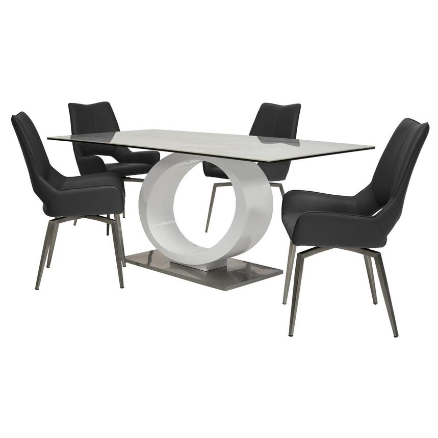 Fenti/Kalia Gray 5-Piece Formal Dining Set