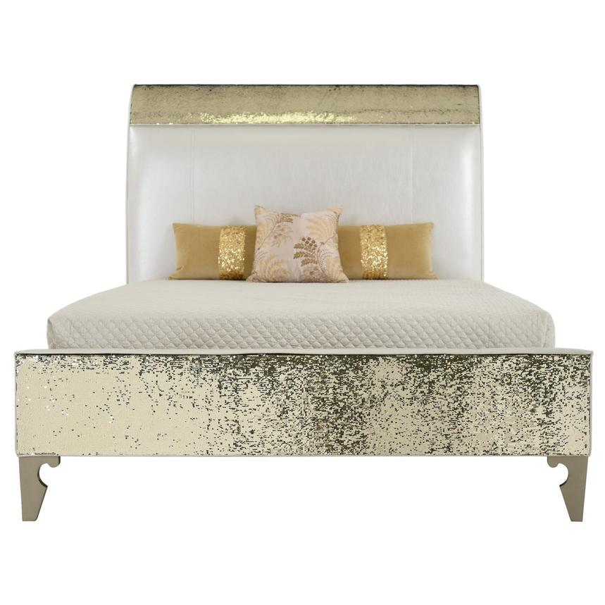 Glitz & Glam Twin Panel Bed  main image, 1 of 6 images.