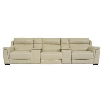 Amanda Cream Home Theater Leather Seating