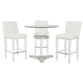 Mina White 4-Piece High Dining Set