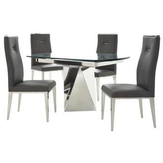 Ulona/Hyde Gray 5-Piece Formal Dining Set
