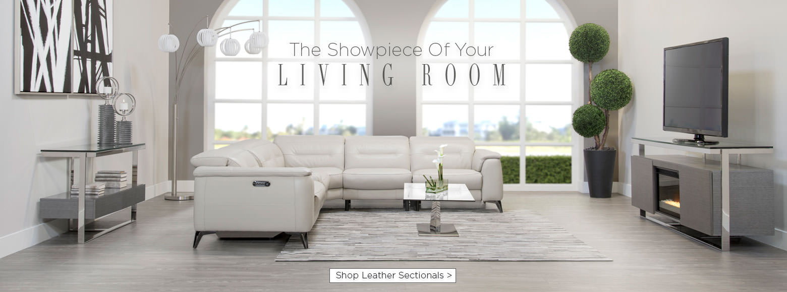 The showpiece of your living room. Shop leather sectionals.