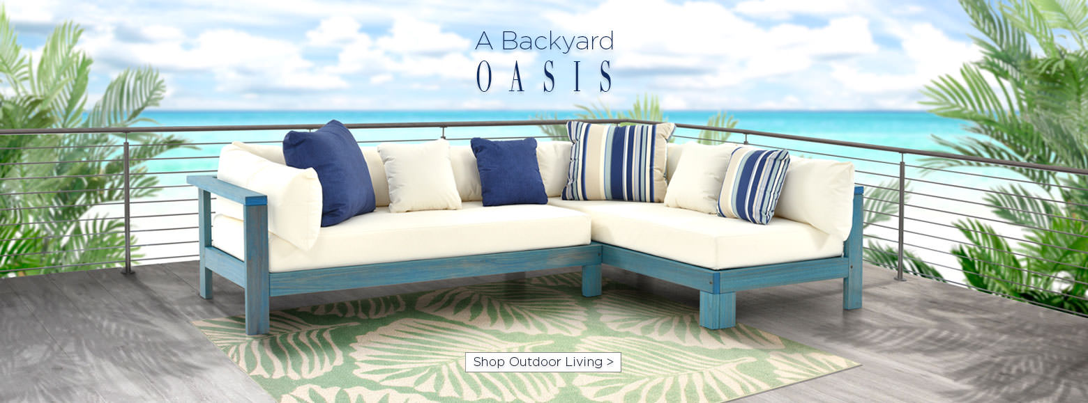 A backyard oasis. Shop outdoor living.