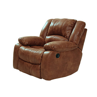 Wrangler Tan Swivel Glider Recliner